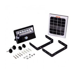 8W 600Lm LED Solar Floodlight with PIR Sensor